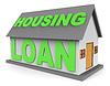 Housing Loan Mittel Immobilien und 3D-Wohnung | Stock Illustration