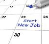 Empezar un trabajo nuevo calendario significa empezar Empleo | Ilustración