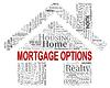 Hypothek Optionen Zeigt Immobilien und Alternative | Stock Illustration