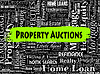 Immobilien Auktionen Stellt Immobilien und | Stock Illustration