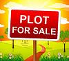 Parzelle Zum Verkauf Gibt Immobilienmakler und Acres | Stock Illustration