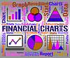 Gráficas financiera muestra el gráfico de asunto y la banca | Ilustración