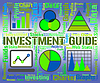 Investment Guide Indicates Business Graph And Advise | Stock Illustration