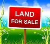 Land Kauf Zeigt Immobilienmakler und Verkauf von | Stock Illustration