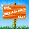 One Hundred Percent Shows Ecological Sustainable An | Stock Illustration