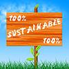 El cien por ciento ecológica sostenible Muestra Un | Ilustración