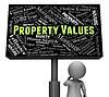 Eigenschaftswerte Zeigt Real Estate und der Menge | Stock Illustration