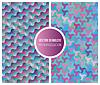 Nahtlose Rosa blaue geometrische Muster-Sammlung