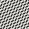 Nahtlose Schwarz-Weiß Diagonal wellige Formen