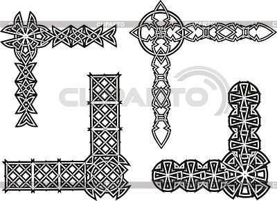 Celtic dekorativen Knoten Ecken | Stock Vektorgrafik |ID 3580947