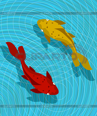 Koi Fisch-Szene | Illustration mit hoher Auflösung |ID 3536802