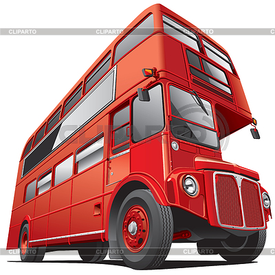 Piętrowy autobus w Londynie | Stockowa ilustracja wysokiej rozdzielczości |ID 3421326