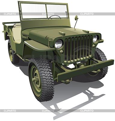 Армейский джип | Векторный клипарт |ID 3654843