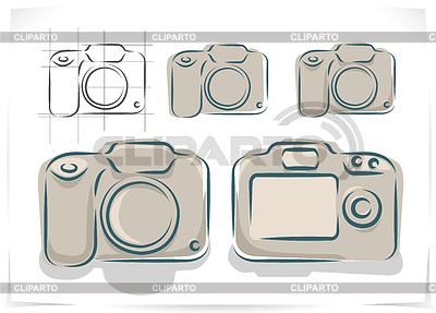 Schemat aparatu fotograficznego | Klipart wektorowy |ID 3530097