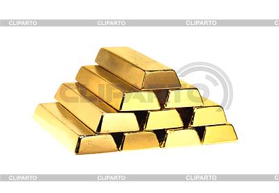 Золотые слитки изолированные на