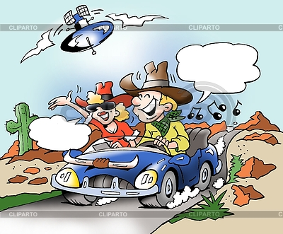 Muzyka i komunikacji internetowej w podróży samochodem | Stockowa ilustracja wysokiej rozdzielczości |ID 3386938