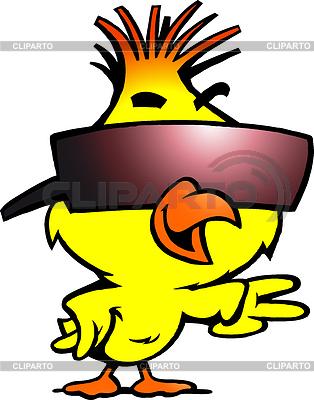Inteligentne kurczaka z chłodnym okulary | Klipart wektorowy |ID 3441023