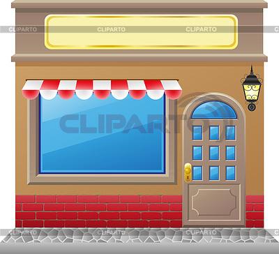 Fassade eines Geschäfts mit Schaufenster | Stock Vektorgrafik |ID 3433198