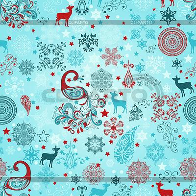 Nahtloses Weihnachtsmuster | Stock Vektorgrafik |ID 3444920