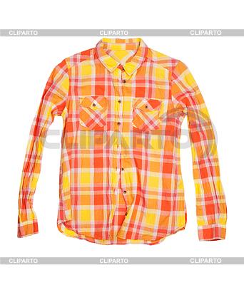 Pomarańczowa koszula w kratkę | Foto stockowe wysokiej rozdzielczości |ID 3474075