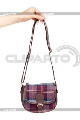 Modna torebka w kratę strony kobiet | Foto stockowe wysokiej rozdzielczości |ID 3679256