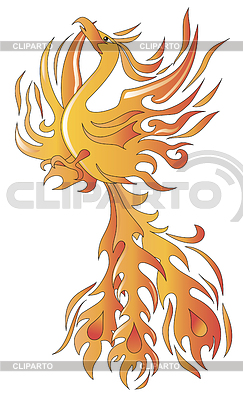 Птица Феникс | Векторный клипарт |ID 3532287