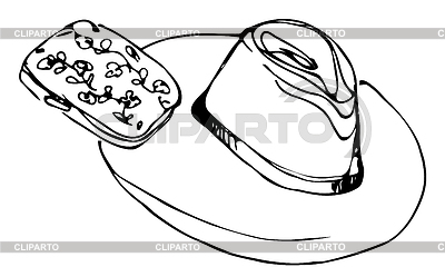 Lady`s hat and female clutch   Klipart wektorowy  ID 5200386