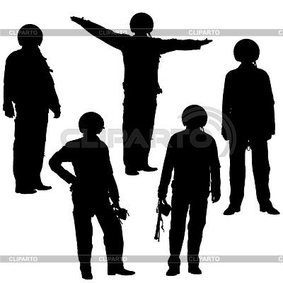 Military pilot silhouette | Klipart wektorowy |ID 3503259