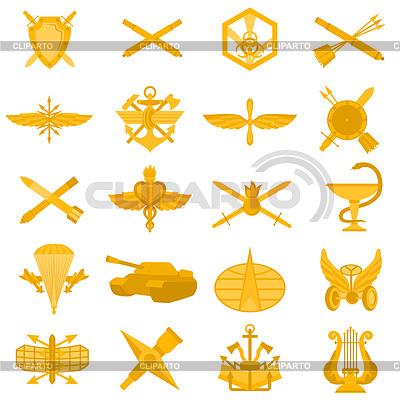 Zakładce odznaki Armii Rosyjskiej | Klipart wektorowy |ID 3419128