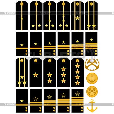 Schultergurte mit Anzeichen von russischen Kriegsmarine | Stock Vektorgrafik |ID 3441353