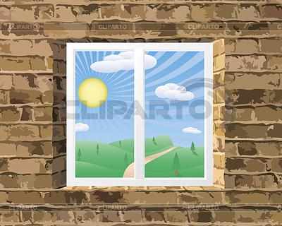 Widok na krajobraz | Klipart wektorowy |ID 3471129