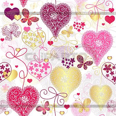 Nahtloses buntes Valentinstag-Muster | Stock Vektorgrafik |ID 3495326