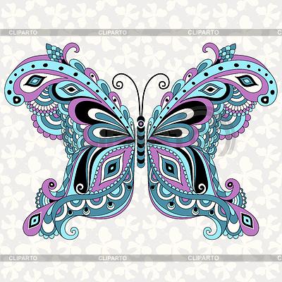 Dekorative fantasy vintage butterfly | Stock Vektorgrafik |ID 3678768