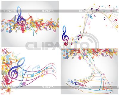 Mehrfarbige musikalische Designs | Stock Vektorgrafik |ID 3389599