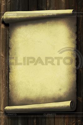 Grunge-Papier auf Holz-Wand | Illustration mit hoher Auflösung |ID 3490840