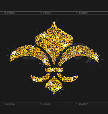 Icon of fleur de lis with glitter surface for Fleur glitter