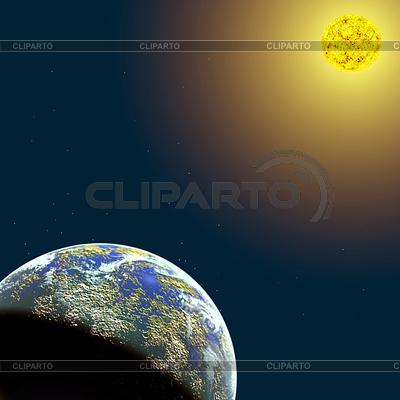 Przestrzeń z planety i gwiazdy | Stockowa ilustracja wysokiej rozdzielczości |ID 3430429