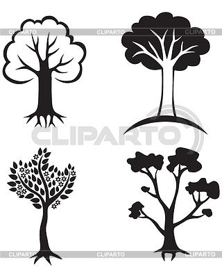 Set Bäume icon | Illustration mit hoher Auflösung |ID 3688580