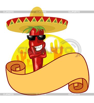 Mexican hot chili label | Klipart wektorowy |ID 3465101