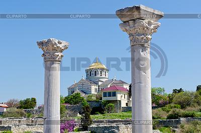 Marmorsäulen des antiken griechischen Basilika | Foto mit hoher Auflösung |ID 3485769