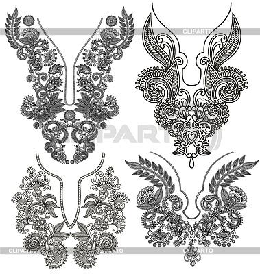 Sammlung von dekorativen floralen Ausschnitt | Stock Vektorgrafik |ID 3606631