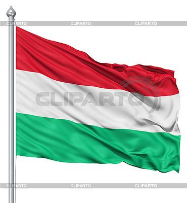 Wehende Flagge von Ungarn | Illustration mit hoher Auflösung |ID 3531269