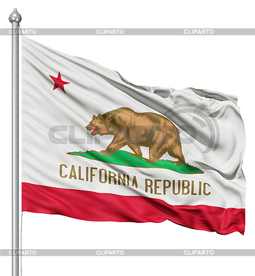 Waving Flag of USA Staat California | Illustration mit hoher Auflösung |ID 3531318