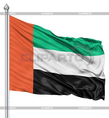 Wehende Flagge von Vereinigte Arabische Emirate | Illustration mit hoher Auflösung |ID 3531348