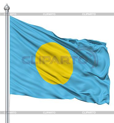 Wehende Flagge von Palau | Illustration mit hoher Auflösung |ID 3531383