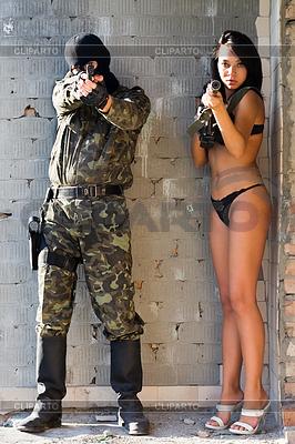 Mujer soldado soldado pic