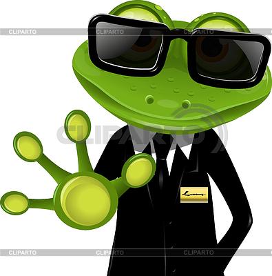 Frog ochroniarz | Klipart wektorowy |ID 3426928