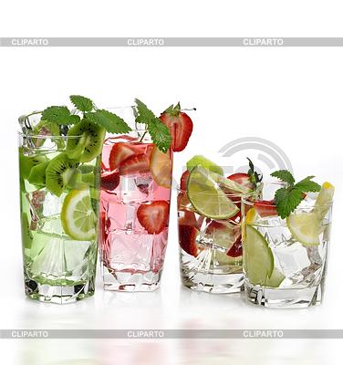Fruit Drinks mit Eis | Foto mit hoher Auflösung |ID 3526059