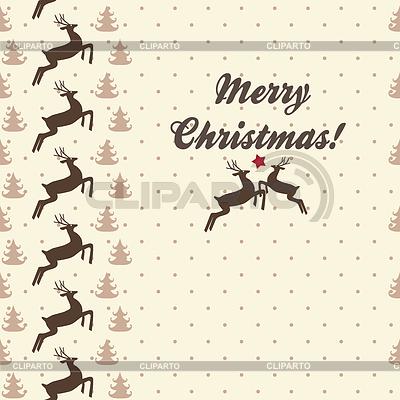 Etniczne Boże Narodzenie bez szwu z jelenia | Klipart wektorowy |ID 3474418
