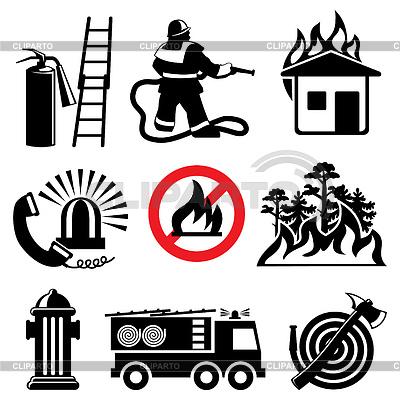 消防安全图标 | 向量插图 |ID 3495474